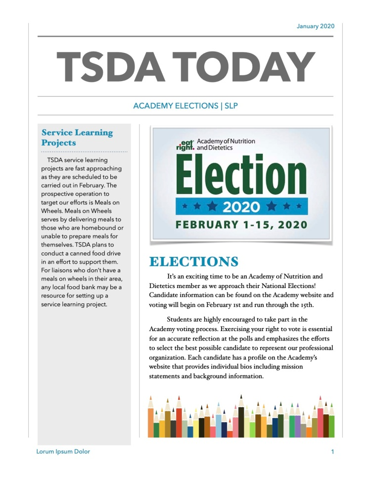 TSDA Jan Newsletter